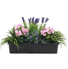 Artificial Window Mixed Flower Window Box Artificial Flower Trough Blooming