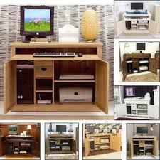 conran solid oak hidden home office. Hidden Desk Cabinet Conran Solid Oak Modern Furniture Home Office Hideaway  Computer Pc Hide Away Armoire E