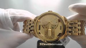 men s gold diesel dz7306 mini daddy dual time watch