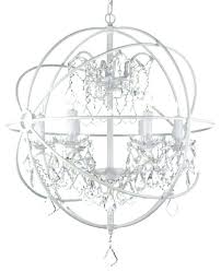 white wrought iron chandelier fascinating with crystals orb crystal traditional chandeliers by rod