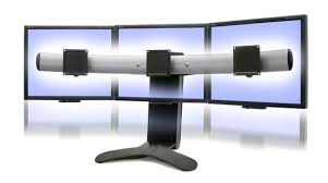 Lx Triple Display Lift Stand Ergotron 414141 LX Triple Monitor Stand 1