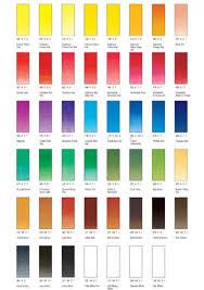 Winsor And Newton Cotman Color Chart Winsor Newton Watercolour Colour Chart Best Picture Of