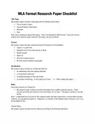 Mla Format Research Papers Paper Checklist Term For Self Spacecadetz