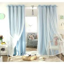 double layer with lace curtain aqua block out curtains next curtain double layer with lace curtain