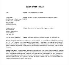 job cover letter format cover letters formats