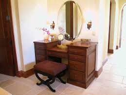 image of modern vanity table with mirror