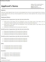 Resume Templates To Print For Free Commily Com