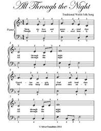 Each song contains a full version of the recording sample that customers can freely listen to. All Through The Night Easy Piano Sheet Music By Traditional Celtic
