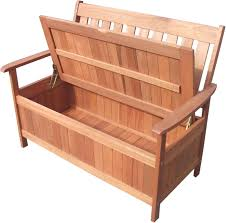 outdoor wooden 2 seater w storage garden bench