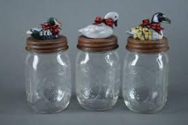Mason Jars With Decorative Lids Ball Mason Jars w Decorative Lids Set of Three Waterfowl 34