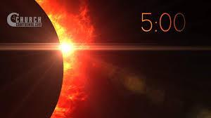 Fiery Eclipse 5 Minute Silent Countdown Churchcountdowns Com