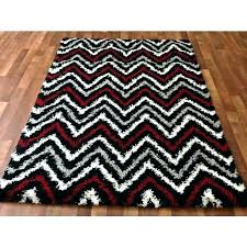 area rug red red black white rug red and white rug black contemporary zigzag gy area