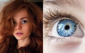 Zrzavé Vlasy Zelené Oči