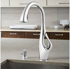 Polished Chrome Indira 1 Handle Pull Down Kitchen Faucet F 529