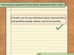 ways to write a scholarship essay on leadership wikihow image titled write a scholarship essay on leadership step 10