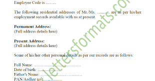 Article shared by letter to the bank for opening an account (date) to, the branch manager, (bank name) (address) advertisements: Address Proof Letter From Employer For Passport Gas Bank A C