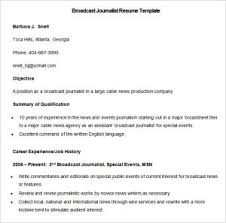 Great Resume For Fresher Journalist For Journalism Resume Examples ...