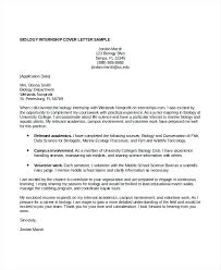 Biology Cover Letter Cover Letter Format Biology Research Scientist ...