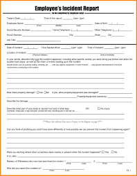 003 Employee Incident Report Template Letter Example Of Cover
