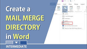 Pictorial Directory Template Word Create A Directory In Microsoft Word Using Mail Merge By Chris Menard