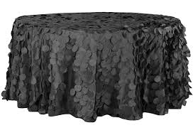 petal circle taffeta 132 round tablecloth black