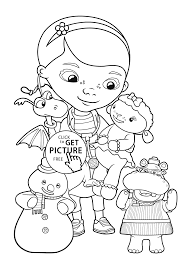 Doc Mcstuffins Friends Coloring Pages For Kids Printable Free Doc