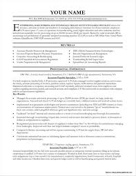Accounts Payable Resume Templates Resume Resume Examples
