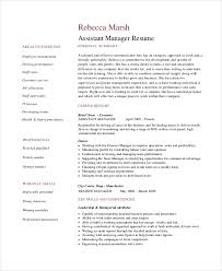 Assistant Store Manager R Resume Cover Letter Example Retail Manager Stunning Retail Manager Resume Examples