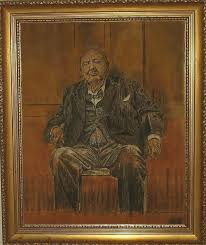 landscapes painting sand painting portrait of sir winston churchill by environmental sandpainter and sand