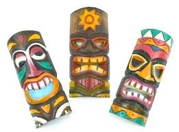 tiki wall art buy set of 3 bar style wall masks inches island art in cheap tiki wall art  on tiki mask wall art with tiki wall art wall art tiki bar wall art konect me