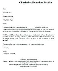charitable contribution receipt letter tax sample receipt for donation deductible receipts charitable