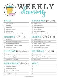 House Cleaning Template Free Free House Cleaning Checklist Schedule Editable Weekly