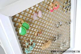 earring organizer diy jewelry organizer wall the chronicles of home easy earring