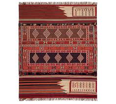 isaac synthetic kilim rug red multi