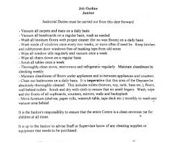 Janitor Resume Sample Janitor Resume Duties kerrobymodels 36