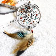 Dream Catchers For Your Car Indian Style Silver Dream Catcher Feathers Core Bead Dreamcatcher 67