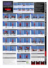 Dumbbell Exercises For Men Chart Dumbbell Exercise Chart Pdf Exercise Dumbbell Workout