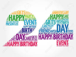 Happy 24th Birthday Word Cloud Collage Concept