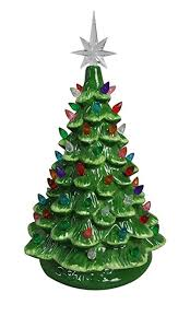 Ceramic Tabletop Christmas Tree With Lights Inspiration Amazon ReLive Christmas Is Forever Lighted Tabletop Ceramic
