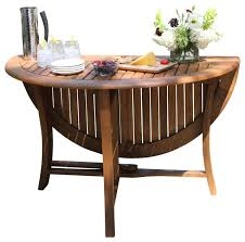 round eucalyptus folding table 48 transitional outdoor s by outdoor interiors