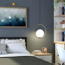 nordic single head glass bedside pendant lamp simple modern bar pendant lights pendant lights height over