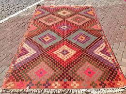 faded pink kilim rug vintage turkish kilim rug 71 x