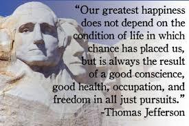 Thomas Jefferson Famous Quotes Mesmerizing Famous Happiness Quotes By Thomas Jefferson Golfian