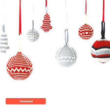 Christmas Ornament Patterns Custom Knitted Christmas Decorations Free Patterns Crochet Xmas Decorations