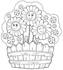 Summer Flowers Coloring Pages Printable Printable Coloring Page