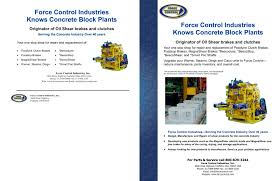dixie flyers docum concrete block plant flyer force control industries inc pdf