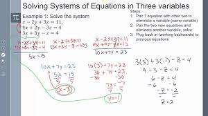lesson 90 2 system of equations system of equations three variable