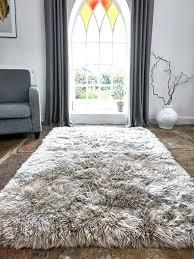 cool large fur rug luxurious sheepskin caramel grey rugs