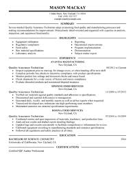 Stunning Quality Control Resume Examples Photos Simple Resume