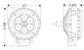 4 lzr 6 led series black kc 1300 spot beam dimensional drawings 4in lzr led
